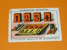 CHROMO 1932 CASINO N° 91 EXPERIENCES AMUSANTES LUNETTE MAGIQUE ET MAGNETIQUE