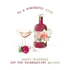 Wife Be-Gin Birthday Greeting Card By The Curious Inksmith Greetings Cards