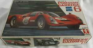 Vintage Porsche Carrera 6 Wind Up Motor 1/32 Scale Bandai Instructions & Decals