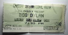 BOB DYLAN Concert Ticket Stub 2000 Cardiff Arena