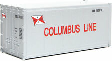 Walthers HO Scale 20' Smooth-Side Container Columbus Line (Gray/Red Flag)