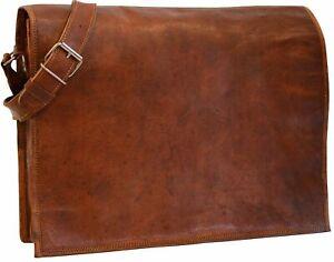 Distressed 6 sizes Vintage Leather Messenger Shoulder Laptop Bag Briefcase