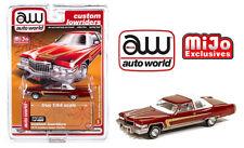 Auto World 1:64 Custom Lowriders 1976 Cadillac Coupe Deville Burgundy - Mijo