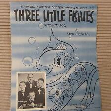 Foglio CANZONE tre poco fisheies THA RADIO Revellers 1939