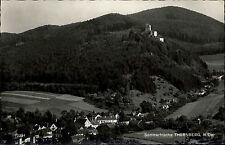 Thernberg Niederösterreich Ansichtskarte 1969 Gesamtansicht mit Burg Waldpartie