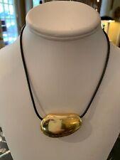 Large Tiffany & Co. Elsa Peretti 18k Gold  Bean Design  Necklace