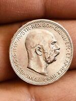 HUNGARY / SILVER 1 KORONA 1915 Nice Coin