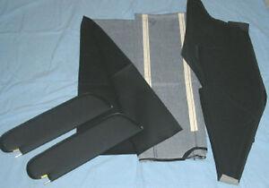1970-72 skylark GS sun visors & headliner black premiere