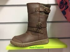 Hush Puppies Lela Infants Brown Leather Boots UK7 EU24