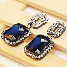 statement mixed crystal long 41mm Earrings 2016 New design women gorgeous bib