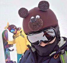 Teddy bear multisport helmet cover, biker gift, ski accessory, snowboard apparel