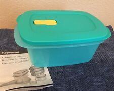 TUPPERWARE - CRYSTALWAVE- RECTANGULAR MICROWAVE - 7 cup Turquish Blue