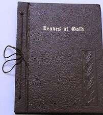 Vintage Leaves Of Gold  Anthology of Prayers / Verses - 1948 Clyde Francis Lytle