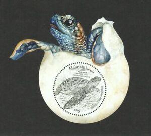 Malaysia 2020 Iconic Marine Life Hawksbill Turtle Odd Shaped Miniature Sheet