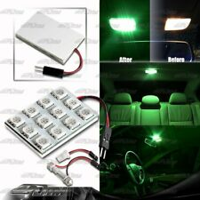 SMD GREEN 12 LED Interior Dome Map Light Panel T10 & Festoon Adapter For NISSAN