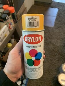 Vintage Krylon Spray Paint Bright Yellow #1804 JOHN DEERE Rare