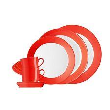 Arzberg Tric Hot Rot Starter Set 10tlg. Speiseteller Frühstücksteller Tasse