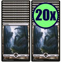 4x Swamp 262 NM MTG Battle for Zendikar Full Art BASIC LAND