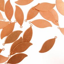 "Leaf w/ Ring, 1 1/16"", Copper, Metal Stamping Blanks, 24 pc - Quality Discs"