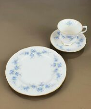 Porzellan Royal Standard Blaue Blumenranke Kaffeegedeck 3tlg