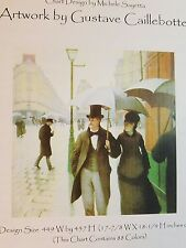 Heaven and Earth Cross Stitch Chart Paris Street by Gustave Caillebotte