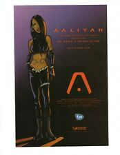"Aaliyah 2001 Print ad in animated character for hit ""We Need A Resolution"""