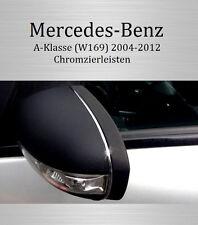 Mercedes A-Klasse W169 - 3M Chrom-Leisten Chromleisten Außenspiegel Spiegel OBEN