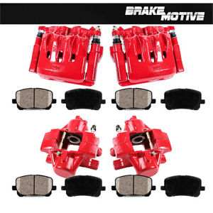 Front and Rear Brake Calipers and Ceramic Pads For Lexus IS300