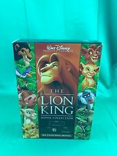 The Lion King Movie Collection Trilogy Box Set RARE (HALF A WAY NEW)