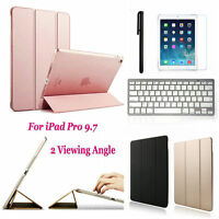 Folio Wake/Sleep Case Cover Bluetooth Wireless Keyboard For Apple iPad Pro 9.7""