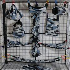 Winter Camo*15 Pc Sugar Glider Cage set * Rat * double layer Fleece