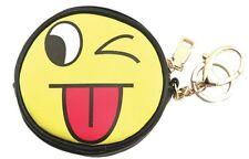 Sleepyville Emoji Tongue Out Key Chain coin purse for Bag Handbag Purse