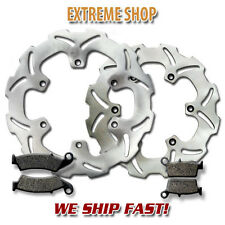 Yamaha Front + Rear Brake Rotor + Pads WR 250 F 4T (2003-2014) WR450 F 2003-2011