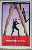 FOR YOUR EYES ONLY MOVIE POSTER Folded 27x41 ROGER MOORE Is JAMES BOND