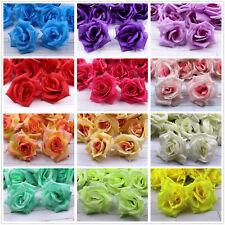 "3"" 12Pcs Artificial Silk Big Rose Flower Heads Wedding Home Decoration"