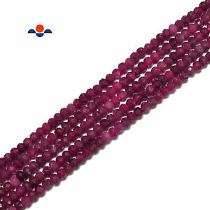 """Natural Ruby Faceted Rondelle Beads Size 2x3mm 15.5"""" Strand"""