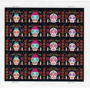 US SCOTT 5640 - 5643 PANE OF 20 DAY OF THE DEAD STAMPS FOREVER MNH