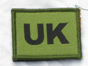 UK  Blood Group Patch,United Kingdom, Unit ID Patch, Klettverschluß,oliv