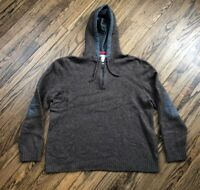 Carbon 2 Cobalt Mens Half Zip Hoodie Pullover Sweater Patches Size 2XL