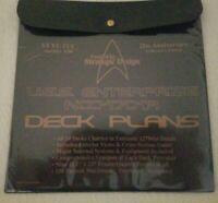 Rare - Star Trek Enterprise NCC-1701A DECK PLANS ST VI:TUC 25th Anv Collector Ed