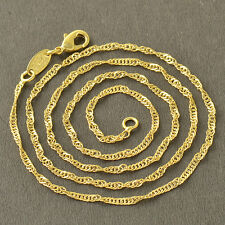 19.29 Inches Yellow Gold Filled Water Waves forever Womens Chain Necklace
