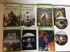 Xbox 360 Live Alan Wake Dantes Inferno Assassins Creed 2 Devil May Cry Game Lot
