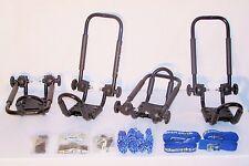 2 Sets Satin Black Roof Mounted Folding Kayak J-Style Racks PK-KR FOLD BLACK2
