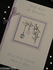 Handmade Personalised Christmas A5 Card Someone Special Friends Niece Nephew