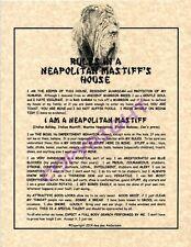 Rules In A Neapolitan Mastiff's House