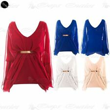 Blouse V Neck Batwing Sleeve Tops & Shirts for Women