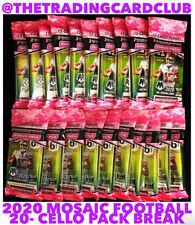 Green Bay Packers 2020 Panini Mosaic Football 20 Cello Pack Break