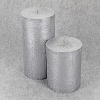 Silver Ombre Candles By G Decor