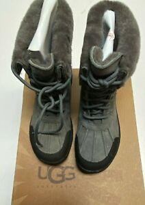 UGG Australia Adirondack Waterproof Lace Up Boots Otter Leather Girl's Size 3