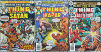 MARVEL TWO IN ONE THE THING #14-16-18 LOT SON OF SATAN! KA-ZAR! SCARECROW!
